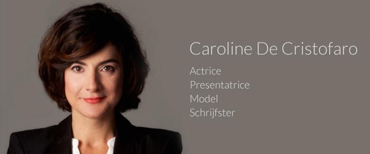 Website voor Presentatrice en actrice Caroline De Cristofaro
