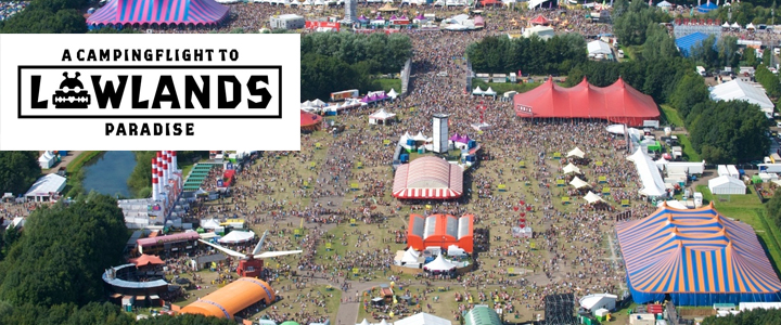 a campingflight to Lowlands paradise